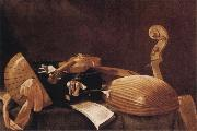 Evaristo Baschenis Still Life with Musical Instruments oil painting artist