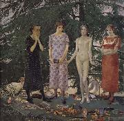 Felice Casorati Recreation by our Gallery oil
