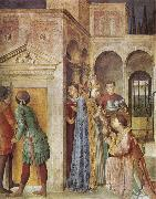 Fra Angelico St Lawrence Receiving the Church Treasures oil painting picture wholesale