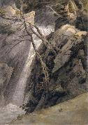 Francis Towne Waterfall near Ambleside oil painting