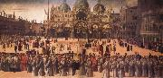 Gentile Bellini Procession in St Mark's Square oil painting artist