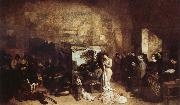 Gustave Courbet The Painter's Studio A Real Allegory oil painting picture wholesale