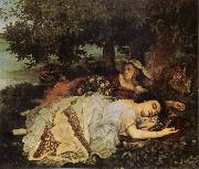 Gustave Courbet Young Women on the Banks of the Seine oil painting picture wholesale