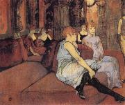 Henri de toulouse-lautrec Interior in the Rue des Moulins oil painting picture wholesale