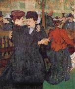 Henri de toulouse-lautrec Two Women Dancing at the Moulin Rouge oil painting picture wholesale