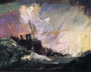 Henry Reuterdahl American Destroyer Patrol along the Atlantic frome Art and the Great War oil painting artist