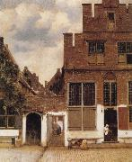 Jan Vermeer Street in Delft oil painting picture wholesale