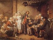 Jean-Baptiste Greuze L'Accordee du  Village oil painting picture wholesale
