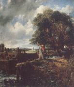 John Constable Flatford Lock 19April 1823 oil painting picture wholesale