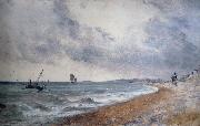 John Constable Hove Beach,withfishing boats oil painting picture wholesale