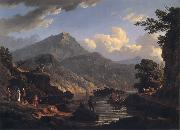 John Knox Landscape with Tourists at Loch Katrine oil painting picture wholesale
