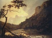 Joseph wright of derby Matlock Tor by Daylight mid oil painting picture wholesale