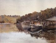 Julian Ashton Mosman Ferry 1888 oil painting artist