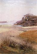Julian Ashton View of Narth Head,Sydney Harbour 1888 oil painting artist