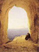Karl Blechen Monks at the Gulf of Naples oil painting artist