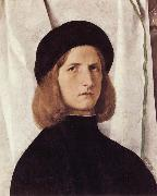 Lorenzo Lotto Portrait of a Young Man oil painting artist
