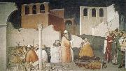 Maso di Banco St Sylvester Sealing the Dragon's Mouth oil painting artist