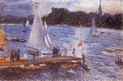 Max Slevogt The Alster at Hamburg oil painting artist