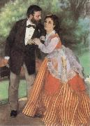Pierre-Auguste Renoir The Painter Sisley and his Wife oil painting
