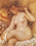 Pierre-Auguste Renoir Bather with Long Blonde oil painting