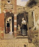 Pieter de Hooch The Courtyard of a House in Delft oil