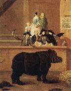 Pietro Longhi The Rhinoceros oil painting picture wholesale