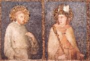 Simone Martini t Francis and St Louis of Toulouse oil painting reproduction