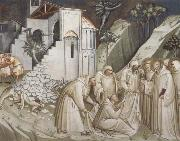 Spinello Aretino St.Benedict Revives a Monk from under the Rubble oil painting artist