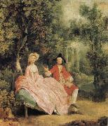Thomas Gainsborough Lady and Gentleman in a Landscape oil painting picture wholesale