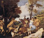 Titian Bacchanalia oil painting reproduction