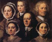 William Hogarth Heads of Six of Hogarth's Servants oil painting picture wholesale