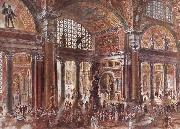 unknow artist Reconstruction of the Baths of Diocletian in Rome oil painting picture wholesale