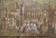 unknow artist Wall painting from Pompeii showing the story of the Trojan Horse oil painting picture wholesale