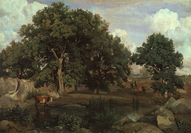 Jean Baptiste Camille  Corot Forest of Fontainebleau oil painting image