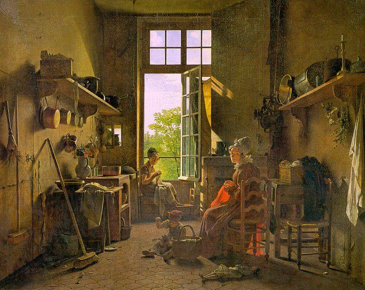 Martin  Drolling Interior of a Kitchen oil painting image