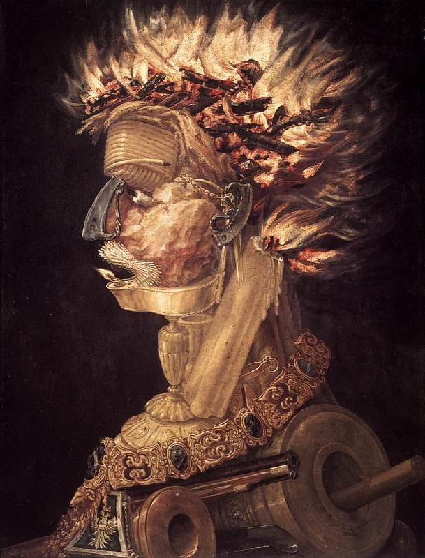 ARCIMBOLDO, Giuseppe The Fire jhjhjh oil painting image