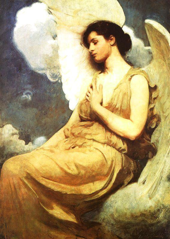 Abbot H Thayer Winged Figure oil painting image
