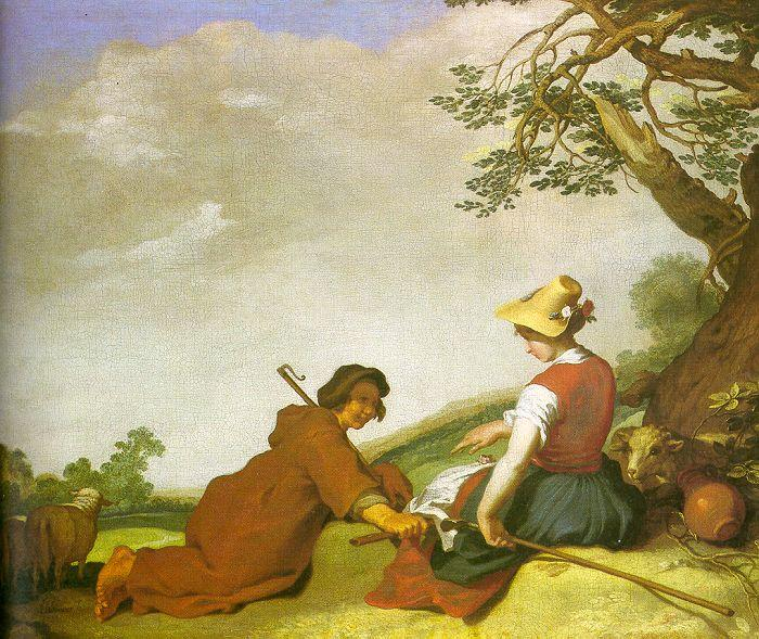 Abraham Bloemart Shepherd and Shepherdess oil painting image