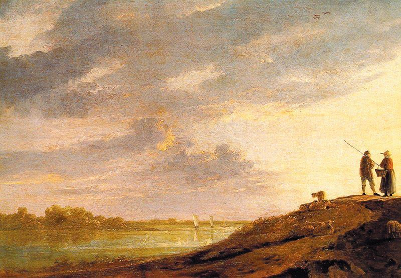 Aelbert Cuyp River Sunset oil painting image