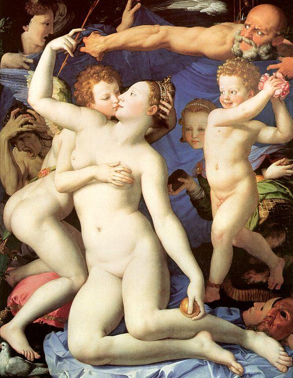 Agnolo Bronzino An Allegory of Venus and Cupid oil painting image
