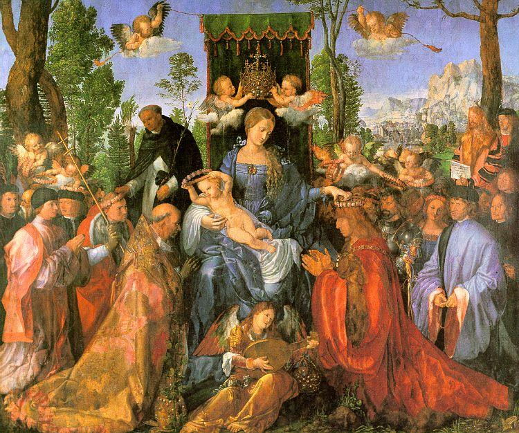 Albrecht Durer Altarpiece of the Rose Garlands oil painting image