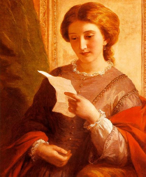 Alfred Chalon Girl Reading a Letter oil painting image
