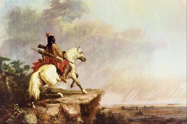 Alfred Jacob Miller Indian Scout oil painting image
