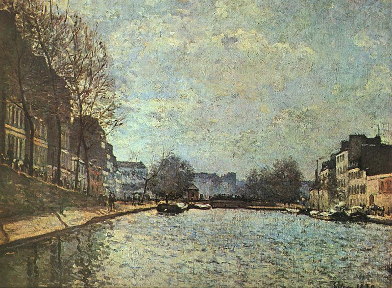 Alfred Sisley The St.Martin Canal Germany oil painting art