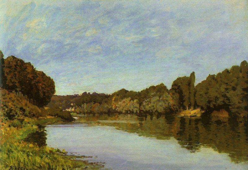 Alfred Sisley The Seine at Bougival oil painting image