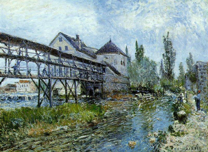 Alfred Sisley Provencher's Mill at Moret Germany oil painting art