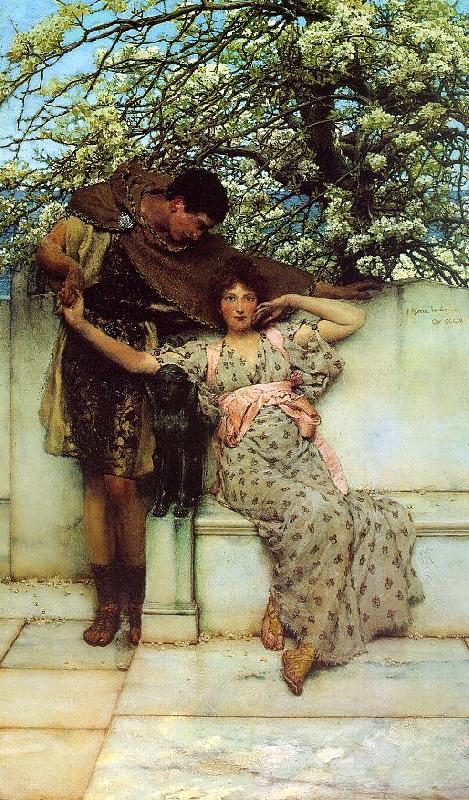 Alma Tadema Promise of Spring Germany oil painting art