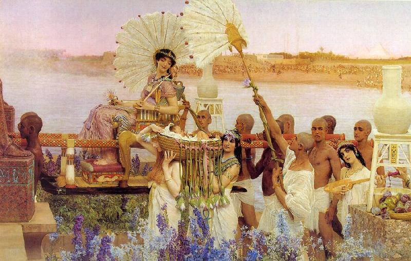 Alma Tadema The Finding of Moses oil painting image