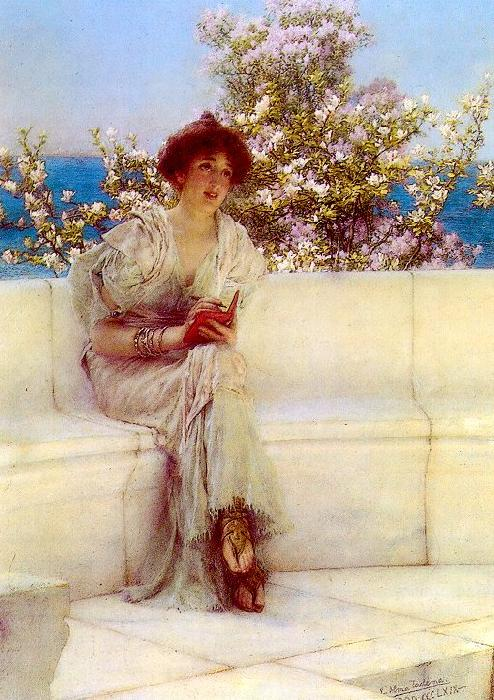 Alma Tadema The Year is at the Spring oil painting image