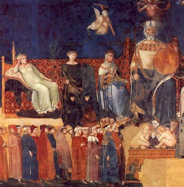 Ambrogio Lorenzetti Allegory of Good Government oil painting image